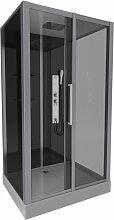 Cabine de douche rectangle 90x115x215cm - DARK