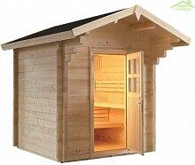 Cabine de Sauna de jardin COUNTRY de 230x230 cm -