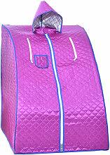 Cabine de Sauna Violet Portable 1000W - 88x76x100cm