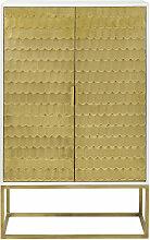Cabinet de rangement 2 portes reliefs écailles