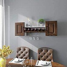 Cabinet de vin suspendu, porte-vin de vin