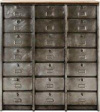 Cabinet indus 21 tiroirs en métal