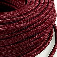 Câble électrique en gaine de tissu ronde, style