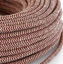 Câble électrique en tissu rond style vintage