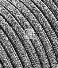 Câble électrique revêtu de tissu ronde coloré