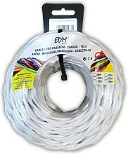 Câble électrique textile tressé 2x1 blanc 5