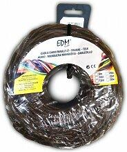 Câble électrique textile tressé 2x1 marron 5