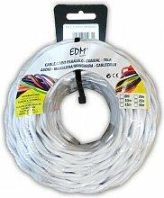 Câble électrique textile tressé 3x1,5 blanc 5