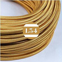 Câble électrique tissu or soie