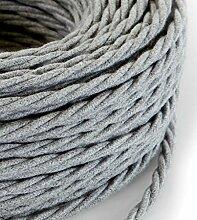 Câble électrique tressé tresse style vintage