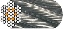 Câble Horlogerie D. 2 mm Galvanisé Ame Textile -