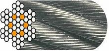 Câble Horlogerie D. 4 mm Galvanisé Ame Textile -