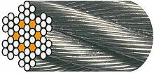 Câble Horlogerie D. 5 mm Galvanisé Ame Textile -