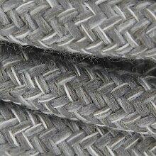 Câble textile - 3m - Gris et lin naturel