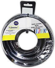 Câble textile 3x0,75 pvc 25mts noir uniquement
