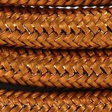 Câble textile soie - 3m - Cuivre pailleté