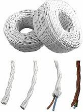 Câble textile torsadé 2x2,5mm blanc euro/mts