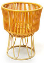 Cache-pot Circo 1 / Ø 36 x H 48 cm - ames jaune