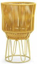 Cache-pot Circo 2 / Ø 40 x H 68 cm - ames jaune