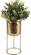 Cache pot design métal Tub - Doré