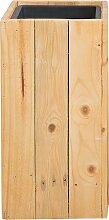 Cache-pot en bois 24 x 24 x 50 cm