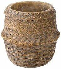 Cache-Pot en Ciment -Seagrass- 14cm Naturel Beige