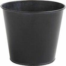 Cache-pot en zinc noir
