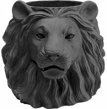 Cache-pot Lion noir Kare Design