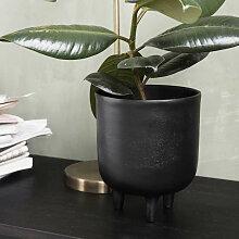Cache-Pot pour fleur ou plantes en Aluminium noir