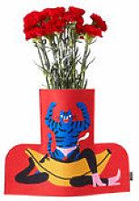 Cache-vase Flower Power Large / H 35 cm - Feutre -