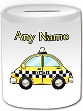 Cadeau personnalisé–Taxi jaune Tirelire