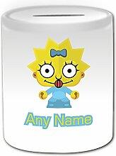 Cadeau personnalisé-Baby Tirelire Simpsons