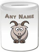 Cadeau personnalisé Motif Silly chèvre Tirelire