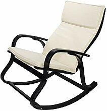 CADENTRO Fauteuil/Chaise à Bascule (Beige / Noir)