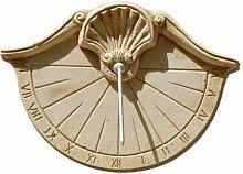 Cadran solaire en pierre reconstituée Coquille