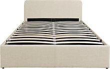 Cadre de lit LOAN avec sommier relevable à lattes