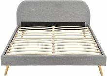 Cadre de lit MOBY avec sommier à lattes en tissu