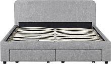 Cadre de lit NINO avec tiroirs de rangement et