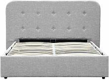 Cadre de lit SAM avec tête de lit, sommier à