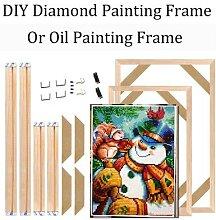Cadre en bois pour peinture diamant mosaïque de