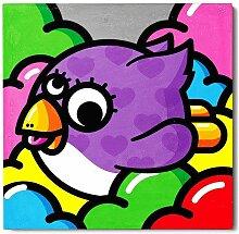 Cadre imprimé Urban art - Oiselle volante en