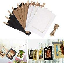 Cadre Photo en bois, 10 pièces, Clip,