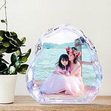 Cadre Photo en cristal personnalisé, cadre Photo