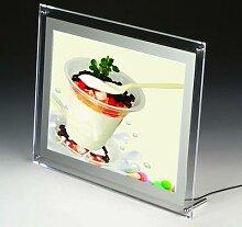 Cadre photo lumineux de comptoir simple face A5,