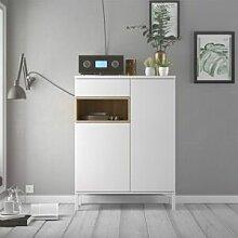 CAESAROO Buffet de salon 89xH119 cm Blanc mat et