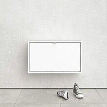 CAESAROO Meuble à chaussures 42 cm Blanc mat avec