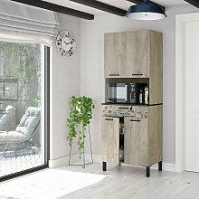 Caesaroo - Meuble de cuisine 72x40x186 cm chêne