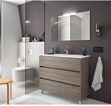 CAESAROO Meuble de salle de bain sur le sol 100 cm