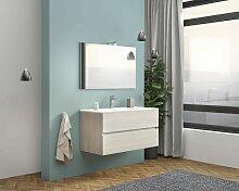 Caesaroo - Meuble de salle de bain suspendu 100 cm