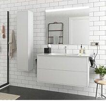 CAESAROO Meuble de salle de bain suspendu 100 cm